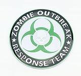 zombie chrome emblem - 1 NEW CUSTOM ZOMBIE OUTBREAK RESPONSE TEAM BADGE EMBLEM GREEN BLACK WHITE CHROME