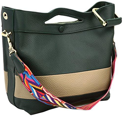 Leather Women Bags Clearance Bag Crossbody Handle On Shoulder Satchel Top Dark ks010 Handbags Green Kenoor Tote BEt8wnxq