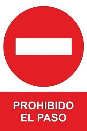 MovilCom® - Señal PROHIBIDO EL PASO PVC 0,7mm 210X300mm Señal prohibición (ref.RD40017)