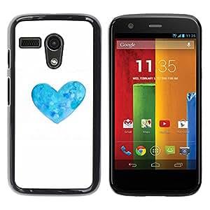 Be Good Phone Accessory // Dura Cáscara cubierta Protectora Caso Carcasa Funda de Protección para Motorola Moto G 1 1ST Gen I X1032 // Heart White Flower Floral Minimalist