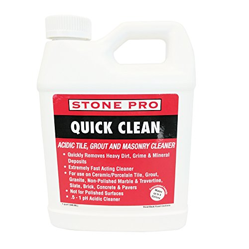 Stone Pro Quick Clean - Acidic Tile, Grout and Masonry Cleaner Concentrate - 1 Quart ()