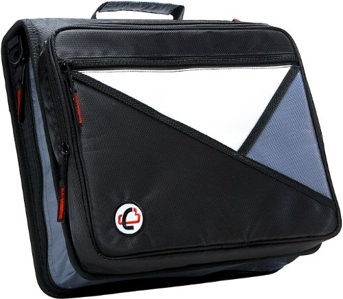 (Case-it Universal 2-Inch 3-Ring Zipper Binder, Holds 13 Inch Laptop, Black, LT-007-BLK)
