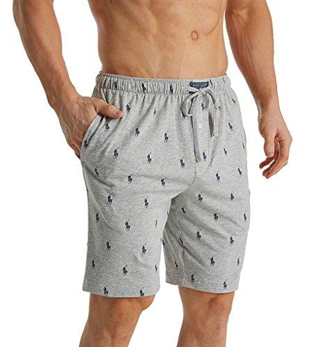 Polo Ralph Lauren Men's Knit Sleep Shorts Andover Heather/Cruise Navy Aopp X-Large