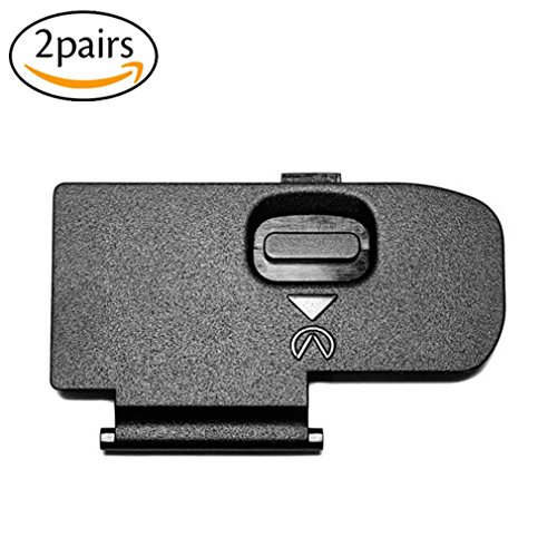 2Pack Battery Door Cover Repair Part Replacement Battery Lid for Nikon D40 D40X D60 D3000 D5000 Digital Camera Repair