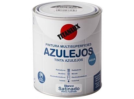Smalto per piastrelle a d acqua bianco titan ml amazon