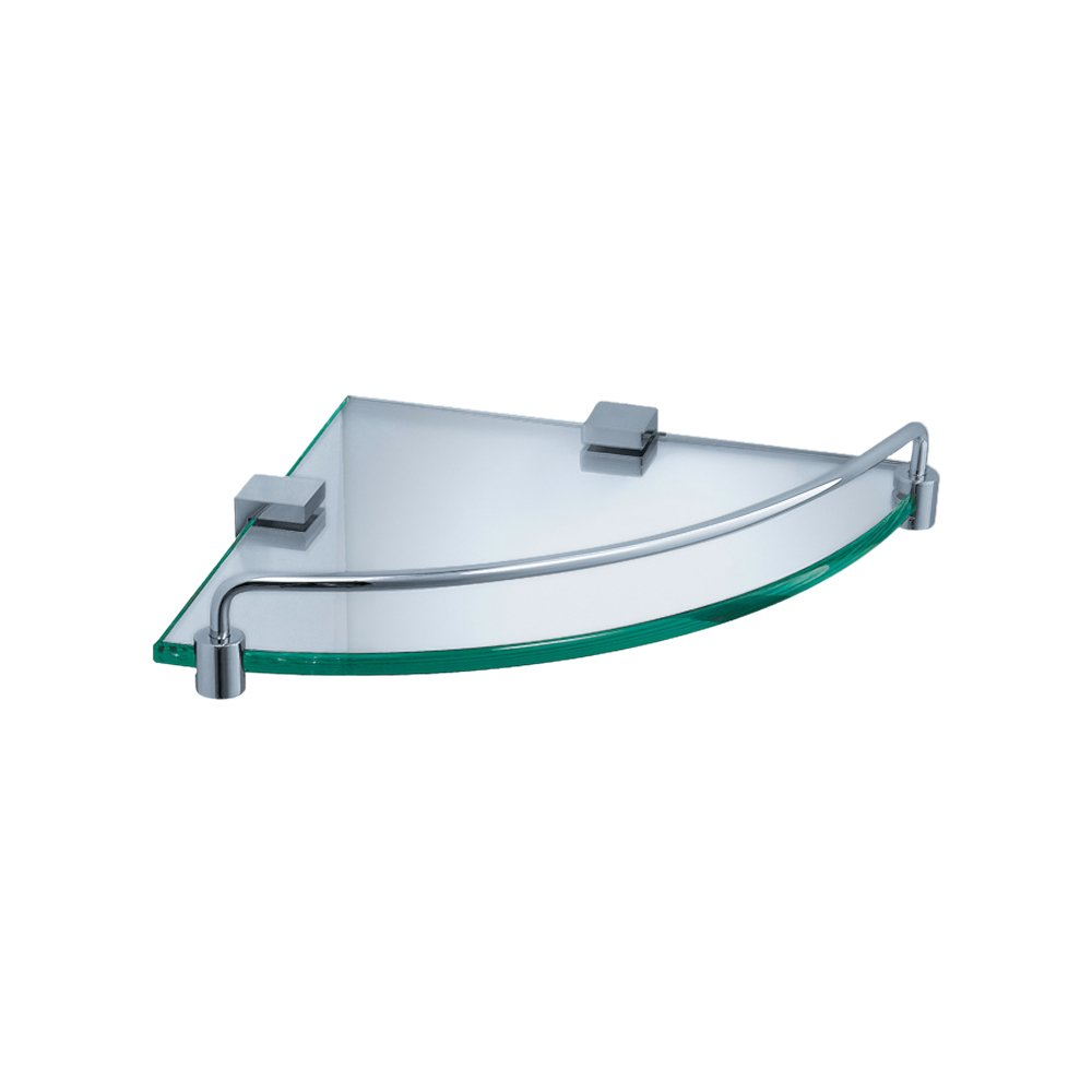Fresca Bath FAC0448 Ottimo Corner Glass Shelf, Chrome