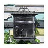 European classical villa mailbox Pastoral retro wall letter box Waterproof outdoor Thicker Post mailbox with lock house