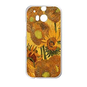 Van Gogh Sunflower HTC One M8 Cell Phone Case White E0588672