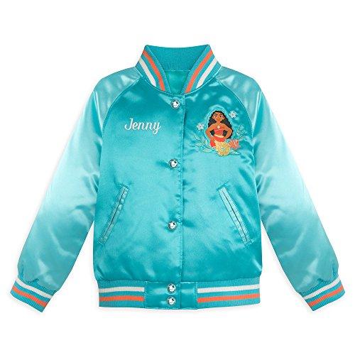 Disney Moana Varsity Jacket Girls - Size 9/10 Blue -