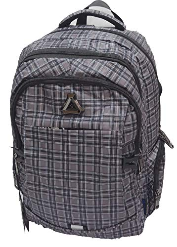 SUDAN Canvas Checked Backpacks  Grey
