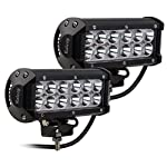 Kaleep 7″ 2PCS 36W Spot LED Work Light Bar Cree Led Super Bright Fog Lights Waterproof for Off Road SUV Jeep Truck Car ATVs Boat , 9-32V 3600LM ,2 Year Warranty