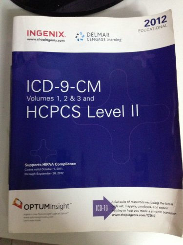 2012 Educational ICD-9-CM, Volume 1, 2, 3 and HCPCS Level II