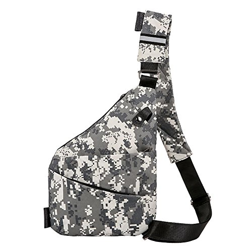 - Diamondo Unisex Camo Chest Packs Messenger Bag Nylon Sports Shoulder Handbag/Grey