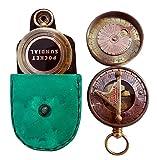 Pocket Sundial Compass London, Both Side Work on the Bird. C-3170-1