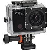 Vivitar DVR914HD 1440p HD Wi-Fi Waterproof Action Video Camera Camcorder (Black) with Remote, Helmet & Bike Mounts