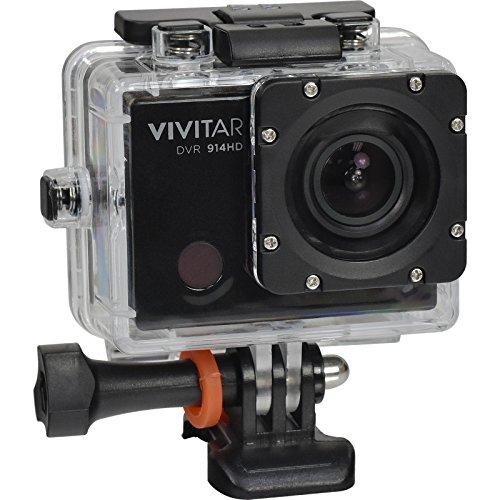 Vivitar DVR914HD 1440p HD Wi-Fi Waterproof Action Video Camera Camcorder (Black) + Remote, Helmet, Bike, Suction Cup + Dashboard Mounts + 64GB + Case Kit by Vivitar (Image #1)