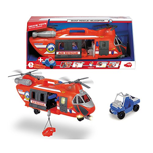 Dickie Toys Giant Rescue Helicopter Vehicle (Helicopter Rescue Toy)