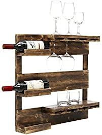 kenley wall mounted modern wine rack with glass rustic