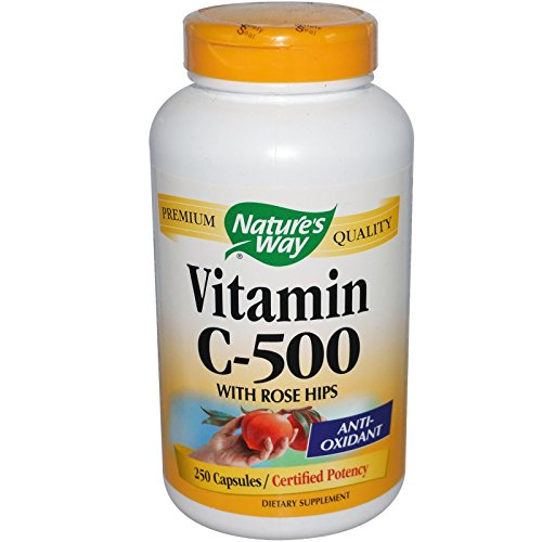 Nature's Way Vitamin C 500, with Rose Hips 250 Caps (Pack of 3) by Nature's Way