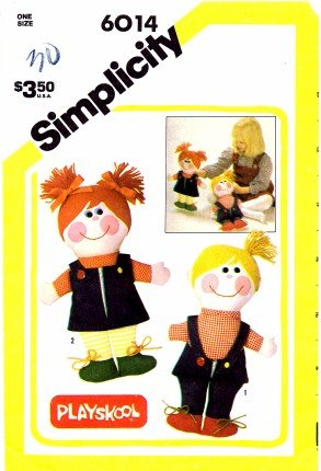 Amazon Com Simplicity 6014 Crafts Sewing Pattern Playskool Boy