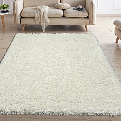 Leather Shag Rug - Ottomanson Flokati Collection Faux Sheepskin Shag Area Rug, 7'10