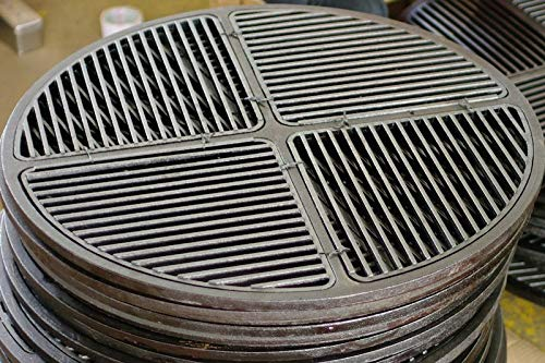 "Cast Iron Grate, Pre Seasoned, Modular, Fits 26.75"" Grills"