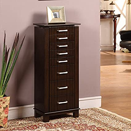 Amazoncom Nathan Direct St Ives 8 Drawer Jewelry Armoire with 2