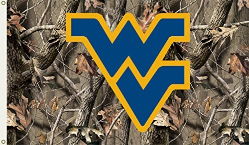 West Virginia Mountaineers 3 Ft. X 5 Ft. Flag W/Grommets - Realtree Camo Background