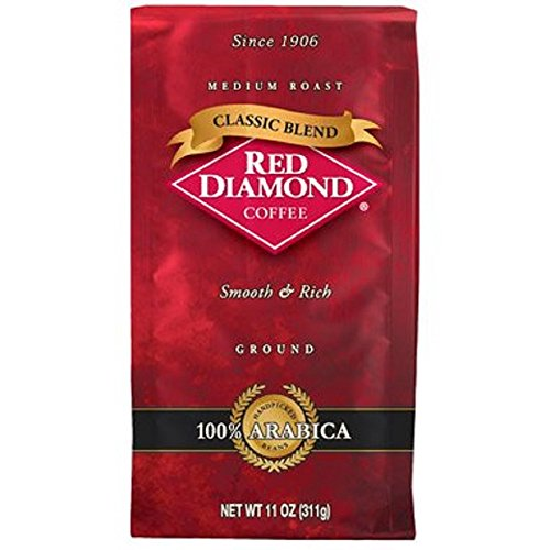 Red Diamond Classic Blend Ground Coffee 11oz Bag, 3 - Pack