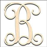 Back40Life Laser Cut Vine Wood Monogram Letter - 19.5-inch unfinished B