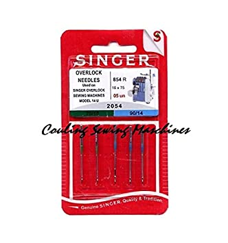 Singer overlocknadeln 2054 Mix, 5 pines, Plata, Metal, 0,1 x 0,1 x 4 cm, 5 unidades: Amazon.es: Hogar