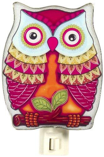 - Ganz Colorful Red Owl NightLight