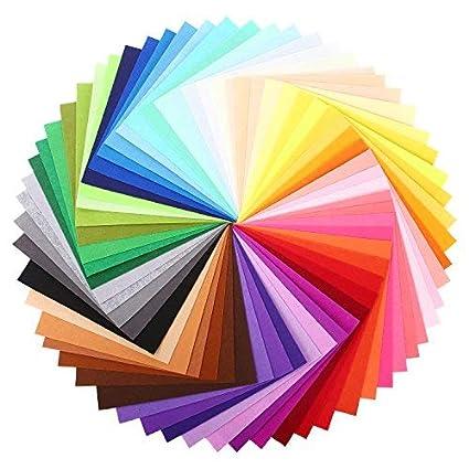 Feltro in Fogli Soledì 41 Colori Feltro e Pannolenci Fogli Colorati Lavoretti di Cucito Bricolage Tessuto Patchwork 15 * 15 cm SOLEDI