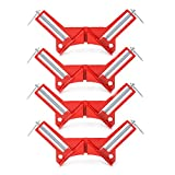 """4-PAK 90 Degree Right Angle Miter Corner Clamp 3"""" capacity Picture Frame Holder Woodwork"""
