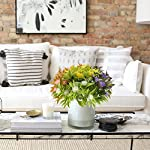 NAHUAA-Artificial-Fake-Flowers-Bundles-4PCS-Outdoor-Plastic-Greenery-Plants-Bushes-Faux-Floral-Bouquets-Table-Centerpieces-Arrangements-Decor-Wedding-Home-Kitchen-Office-Windowsill-Summer-Decorations