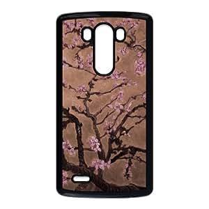 Caso Van Gogh Almond Blossoms 001 Lg G3 caso de la cubierta del teléfono celular Negro Cubierta EVAXLKNBC04286