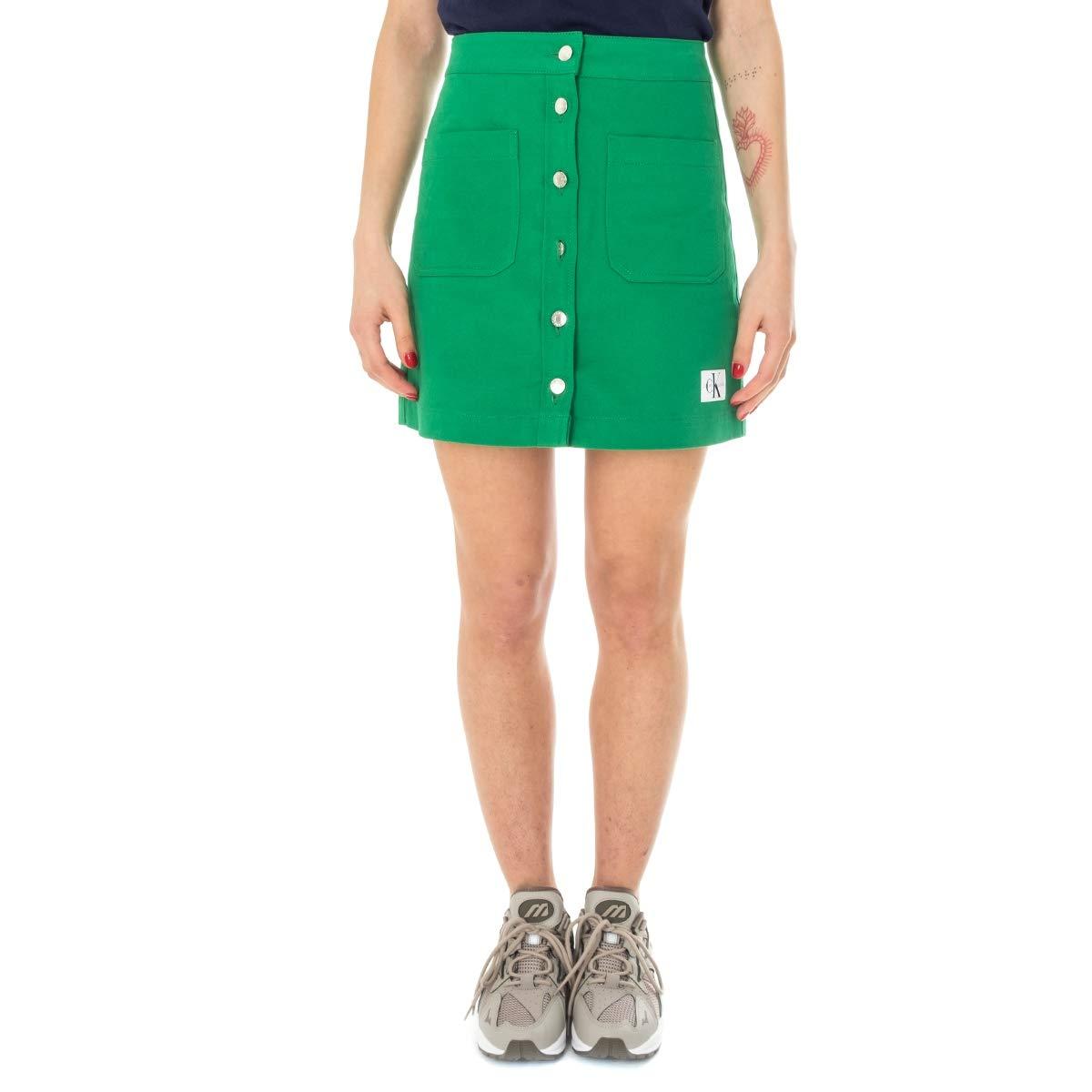 Calvin Klein Falda Mujer Cotton Twill Mini J20J210373.377: Amazon ...
