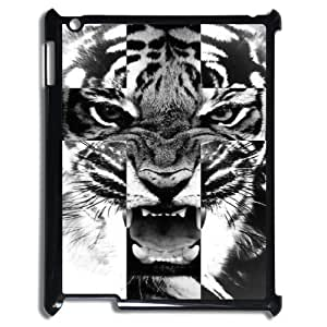 Cross Roar Tiger Cheap Custom Cell Phone Case Cover for iPad 2,3,4, Cross Roar Tiger iPad 2,3,4 Case