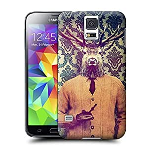 Unique Phone Case Personal animal head pattern Off duty Hard Cover for samsung galaxy s5 cases-buythecase