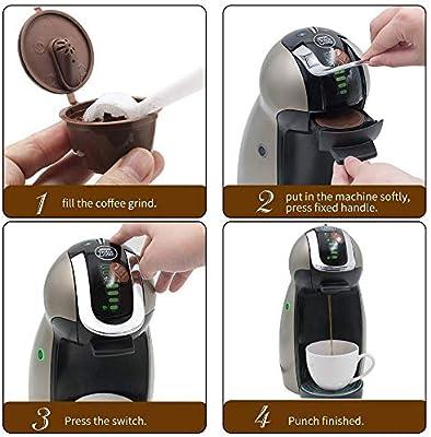 KOIYOI 3ra Crema/Versión Normal Cápsula de café Reutilizable Dolce ...