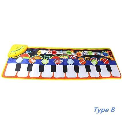 YHONG-Toys Musical Alfombra Bebé Niño Pequeño Actividad ...
