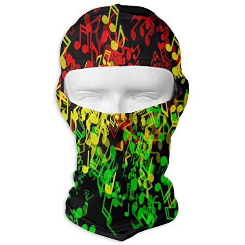 (Queendesign Rasta Reggae Music Elements Ski Mask Windproof Mask Bike Face Mask Bicycle Balaclavas Motorcycle Cycling Outdoors Neck Warmer Multifunctional Seamless Headwear)