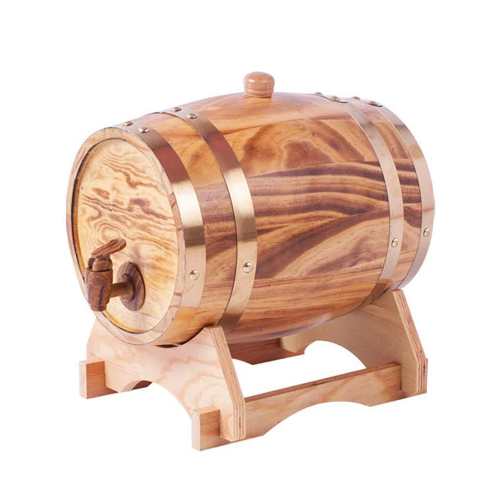 NVRENJIE Red Wine Oak Barrel White Wine Barrel Red Oak Barrel (3-20l Barrel of Household Wine),d,3l