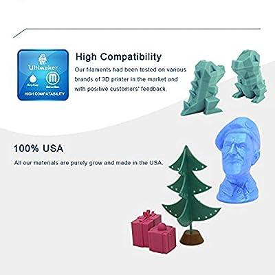 3D Solutech 3DSPLA175ORW Real Orange 3D Printer PLA Filament 1.75 mm Filament, Dimensional Accuracy +/- 0.03 mm, 2.2 lb. (1.0 kg) - 100% USA