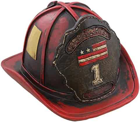 Authentic Firefighter s Helmet Piggy Bank -a perfect hand-painted gift for  your special firefighter 9fc598ac99f