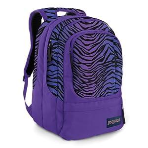 Purple Zebra Print JanSport Air Cure Backpack