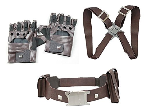 Winter Soldier Costume Accessories (Captain America Accessories Winter Soldier Stealth Glove Belt Harness (L))