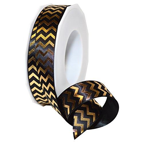 Morex Ribbon 98422/25-634 Gilded Chevron Polyester, 7/8