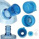 reusable 5 gallon water jugs - 5PCS 55mm 3 and 5 Gallon Non-Spill Caps,Replacement Water Bottle Snap On Cap Anti Splash Peel 5 Piece