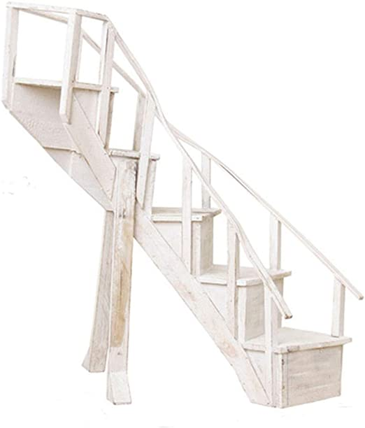 Soporte De Flor De La Planta Bonsai Display De Madera Girar Las Escaleras Estantes Retro Boda Patio, 5 Capas Decorativo GAOFENG (Color : Blanco, Tamaño : 15x60x64cm): Amazon.es: Hogar
